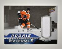2020-21 UD Series 2 Rookie Photoshoot Flashback Relic #RPF-JF Joel Farabee