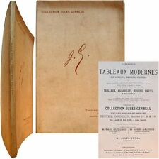 Catalogue tableaux collection Jules Gerbeau 1908 Jongkind Sisley Ziem Prud'hon