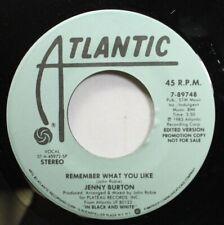 Soul Promo 45 Jenny Burton - Remember What You Like / Remember What You Like On
