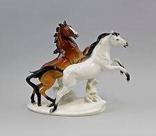 Porzellan Figur Pferde-Gruppe weiß-braun Pferd 33x13x27cm 9941859