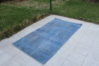 "Vintage Handmade Turkish Overdyed Oushak Nursery Area Rug 6'8""x3'8"""