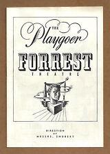 "Elisabeth Bergner ""MISS JULIE"" Raymond Burr 1947 Philadelphia Tryout Playbill"