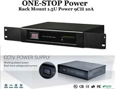 ONE-STOP Rack Mount Power Supply 1.5U DC12V 10A 9CH UL CE Listed For CCTV Camera