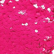 6mm Sequins Fuchsia Pink Opaque. Made in USA