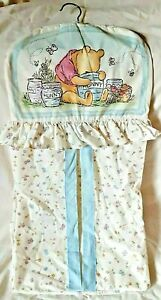 Disney Classic Winnie the Pooh Diaper Stacker Baby Crib Nursery Ruffle 1994