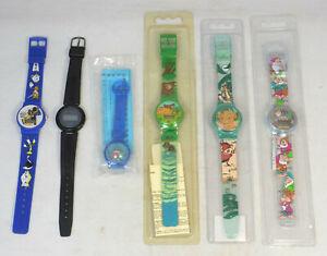 Lot 6 Disney Movie LCD Digital Watches - Little Mermaid, Lion King, Snow White