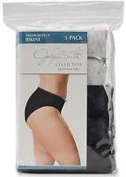 New Jaclyn Smith Premium Plus Size 13 Bikini Underwear Women's Panties Black