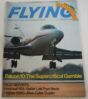 Flying Magazine Falcon 10 The Gamble June 1975 081414R