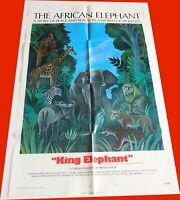 King Elephant/The African Elephant 1971 Documentary Movie Poster~Orig 1-Sheet