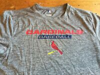 MLB St. Louis Cardinals TX3 Cool Performance T Shirt Gray Size Small B42