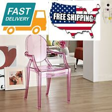 Home Room Garden Furniture Casper chair seat Modern Acrylic Dining Armchair Pink