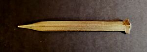 Antique 1920s Rolled Gold Guilloche Propelling Pencil. Flat Facet Deco Desk Gift