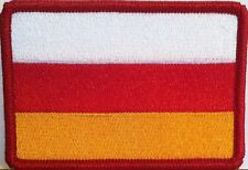 SOUTH OSSETIA Flag Patch With VELCRO® Brand Fastener Military Red Border #7