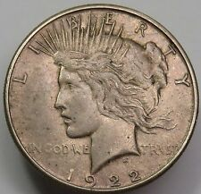 1922-S VAM 5A Missing Rays Silver Liberty PEACE Dollar $1 US Coin Item #13752