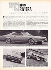 1967 BUICK RIVIERA  ~  ORIGINAL NEW CAR PREVIEW ARTICLE / AD