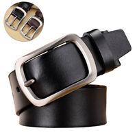 Casual Pin Buckle Genuine Leather Men's Belt Waist Belt Waistband Belts Strap