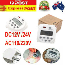 12/24/110/220V Digital LCD Time Switch Wall Weekly Programmable Electronic Timer