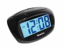 Westclox Black Easy to Read LCD Alarm Clock BatteryOperated