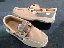 New Sperry Unisex Youth Linen/oat Leather Bluefish boat/deck shoe size 3.5