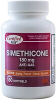 Ultra Strength Simethicone 180 mg Fast Acting Gas Relief 180 Gelcaps per Bottle