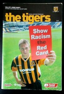 The Tigers Official Matchday Programme Hull City v Derby County 22 October 2005