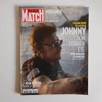 Revue août 2018 Paris Match Johnny Halliday musique pop document France N5214