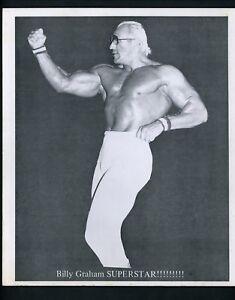 Billy Graham Superstar Wrestling Champion circa 1970's Promo Photo Wrestler