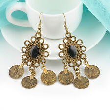 Gypsy Boho Ethnic Style Tribal Chandelier Coin Drop Dangle Long Earrings Jewelry