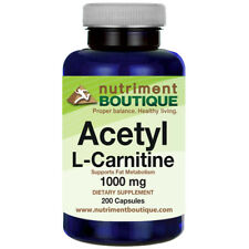 Acetyl L-Carnitine 1000mg 200 Caps by Nutriment Boutique