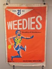 Vintage Weedies Blacklight Poster Cereal Spoof Satire Dennis Dent Wespac 1960s
