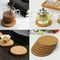 1/30PCS Cork Wood Drink Coaster Tea Coffee Cup Mat Table Decor Bottle Tableware