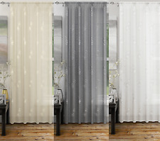 ANALISE LUXURY VOILE CURTAIN PANEL,VOILE NET CURTAINS,SLOT TOP,2 MODERN COLOURS