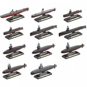Takara 1/700 History of JMSDF Submarines 12pcs assembled Model w/Seacret NIB