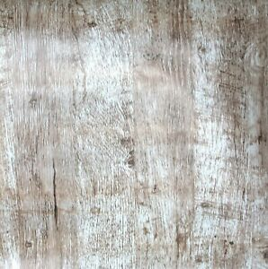 3D BROWN WOOD STICKY BACK PLASTIC SELF ADHESIVE VINYL FABLON FEATURE DISTRESSED