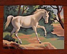 Prancing Arabian Horse Equine Landscap Vtg PBN Paint by Number Art Craft 10x14