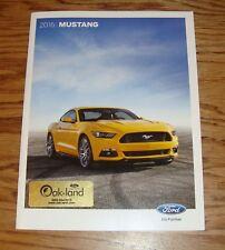 Original 2016 Ford Mustang Sales Brochure 16 V6 GT Premium