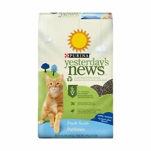 Purina Yesterday's News Fresh Scent & Clean Scent Paper Cat Litter Soft Texture