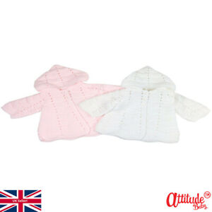 Baby Cardigans Hooded-Thick Knit Baby Cardigan With Hood-Hooded Baby Cardigans