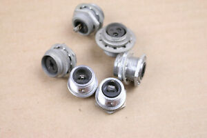 Lot of 6 Vintage Amphenol Female Mic Cable 1 pin 2 pin Receptacle Sockets USA