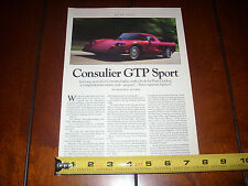 1991 CONSULIER GTP SPORT - ORIGINAL ARTICLE