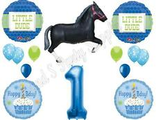 LITTLE DUDE HORSE 1ST FIRST  HAPPY Birthday Party Balloons Decoration Supplies