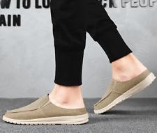 Men Round Toe Casual Slingback Comfort Soft Flats Sandals Slipers Slip On Shoes