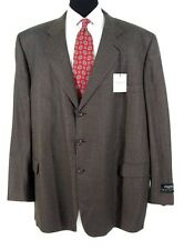 Jack Victor Blazer Sz 58L Brown Check All Season Wool Sport Jacket NWT $449 58 L