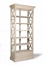 Libreria aperta 5 ripiani spostabili al grezzo da decorare 2 cassetti Nuova