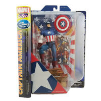 DISNEY STORE DIAMOND MARVEL SELECT CAPTAIN AMERICA STATUE ACTION FIGURE TOY GIFT