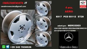 4 Cerchi AMG Aero 8j 17 pollici et28 Mercedes 124 129 140 201 203 204 208 & slk