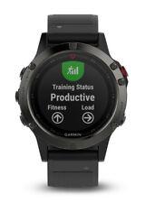 BNIB Garmin Fenix 5 Sapphire Crystal Stainless Steel Black GPS MultiSports Watch