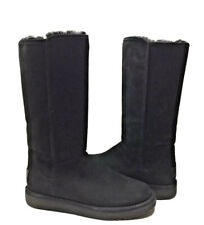 UGG CLASSIC TALL ABREE II NERO BLACK WATER RESISTANT Boot US 8 / EU 39 / UK 6.5