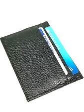 Delgado Negro Cuero de tarjeta de crédito billetera Soporte Cartera Funda Tarjeta De Negocios