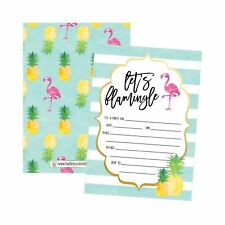 25 Flamingo Party Invitations for Kids, Teens, Adults, Boys & Girls, Blank Ch...